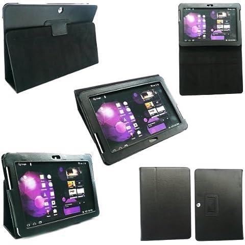 Emartbuy ® Samsung Galaxy Tab 10.1 Tablet 2 Pulgadas (P5100 / P5110) Negro Cuero De La Pu Multifuncional / Multi Angle Monedero / Portada / Soporte / Caso