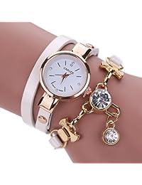 Clearance. Las mujeres de relojes Sonnena disfraz muñeca relojes reloj de pulsera analógico reloj de pulsera joyería Set, venta caliente reloj de pulsera, 2018para fiestas Club Casual relojes reloj de acero inoxidable de regalo del día de San Valentín, blanco, Watch