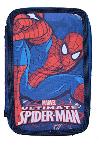 Spiderman- Plumier Doble, Unica (Kids Euroswan SP16108)