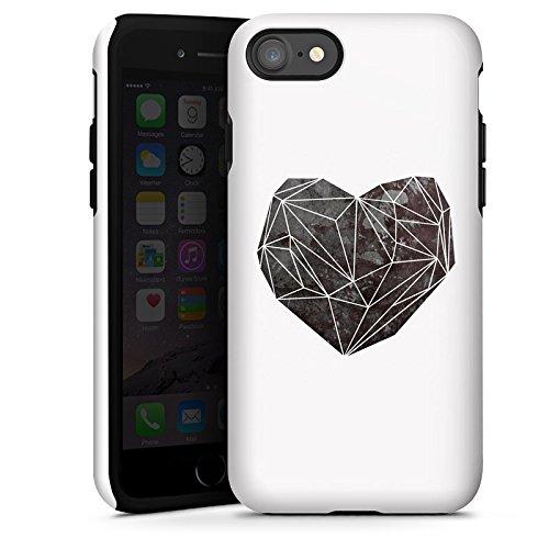 Apple iPhone X Silikon Hülle Case Schutzhülle Liebe Herz Love Tough Case glänzend