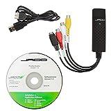 USB-Video-Grabber mit Verlängerungskabel und Video-Bearbeitungssofware