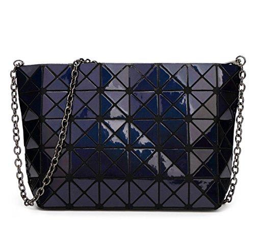 Dame Persönlichkeit Laser Falten Geometrische Tasche Umhängetasche SapphireBlue