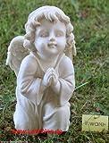 Engel Putte Figur Barock antik-weiß Deko sitzend betend