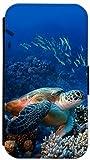 Samsung Galaxy S3 i9300 / S3 Neo Flip Cover Motiv 735 Schildkröte Blau Gelb Hülle Handy Tasche Etui Schutzhülle Case Wallet Bookflip Buchflip von FioMi (735)