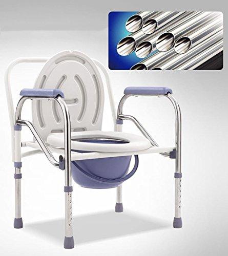 dfhhg® Toilettenstuhl, dicker Stahlrohr ABS Antirust rutschfeste Umweltschutz bequem klappbar Höhe verstellbar der Ältere Schwangere Frauen stabil und robust