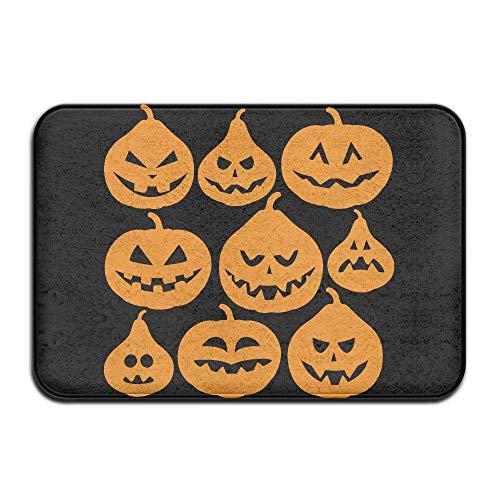 UYTGYUHIOJ Inside & Outside Carpet Entrance Mat Retro Halloween Pumpkin Design Pattern for Hallway (Zu Machen Zu Hause Halloween-ideen Niedliche)