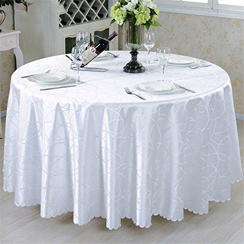 Runde Tischdecke Stoff europäischen pastoralen westlichen Tischdecke Stoff Konferenz Tischdecke Tischdecke , white interlocking , round 160cm