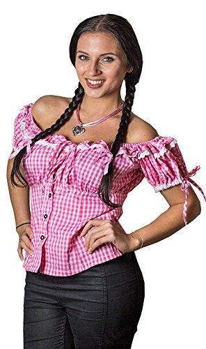 Trachten Bluse Liesl Rosa Gr. 38 - Wunderschöne Trachtenbluse zur Lederhose für Oktoberfest oder Kirchweih