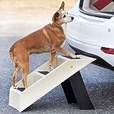 TRI Hunde-Treppe, klappbare Hunderampe Tiertreppe Katzentreppe Einsteighilfe für Hunde mit Gelenkproblemen