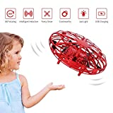 FORMIZON Mini Drône UFO pour Enfants, Mini Quadcopter Drone à Commande Manuelle Hélicoptères Débutant Tournant à 360 ° en Rotation, Cadeau Jouets Volants pour Adolescents (Rouge)