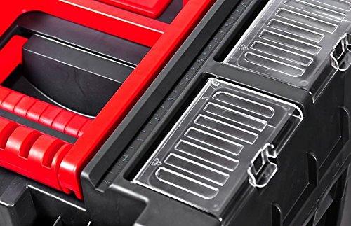 Werkzeugkoffer Werkzeugwagen Rollwagen Wheelbox HD Compact schwarz / rot Trolley Rollen - 6
