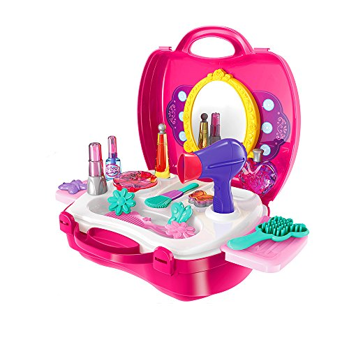 sainsmart-jr-make-up-case-little-girls-cosmetic-set-kids-beauty-salon-pretend-play-kit-14-pieces