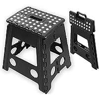 Preisvergleich für TekBox 150kg schwerlast Tritthocker, zusammenklappbar Super Starke Mehrzweck-Kunststoff Haus Küche faltbar Einfache Aufbewahrung