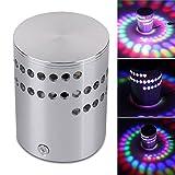 Gaeruite bunte RGB LED Deckenleuchte- LED Deckenlampe Dimmbare bunte Spirale Effektlicht Wandleuchte mit Fernbedienung für Room Decor (1 pcs)
