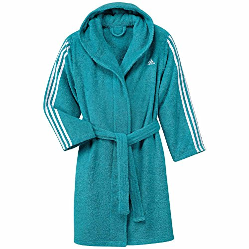 adidas Kinder Bademantel 3 Stripes Bathrobe Energy Blue s17/white 104