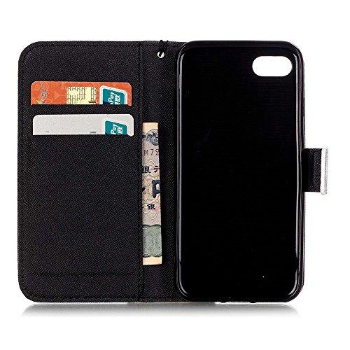 【Eine Vielzahl von Mustern HX-439】iPhone 5/5S/SE Handyhülle Case für iPhone 5/5S/SE Hülle im Bookstyle, PU Leder Flip Wallet Case Cover Schutzhülle für Apple iPhone 5/5S/SE(4.0 Zoll) Schale Handyhülle Farbe-16