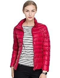 880510c22bd Quibine Doudoune Ultra Léger Femme Manteau Chaud d hiver en Duvet