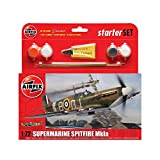 Picture Of Airfix A55100 1:72 Supermarine Spitfire Mkia Military Aircraft Gift Set