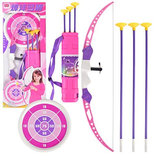 DXX Pfeil und Bogen Kinder Set Mit Zielscheibe Bogenschießen Schießspiele ab 3 Jahre Rosa