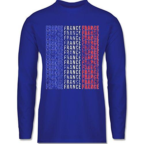 Shirtracer Fußball-WM 2018 - Russland - France Vintage Typo - Herren Langarmshirt Royalblau