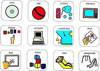 Visual Reward Chart - 5 star (AAC - Picture Communication Symbols)