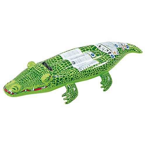 Jilong Krokodil 142x68 cm Schwimmtier aufblasbares Reittier Badetier Wassertier Wasserspielzeug