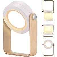 BLOOMWIN Lampe de Chevet Pliable Portable Dimmable Veilleuse avec 3 Niveaux de Luminosité Touch Control Lampe de Table…