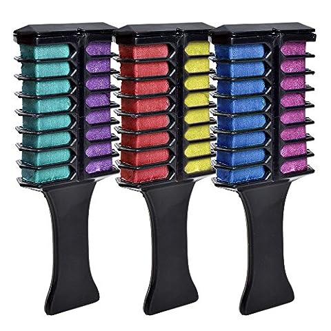 Elera Brosse des Cheveux Teints Temporaire Peigne Coloration Portable à