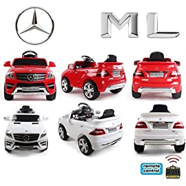 Original-Mercedes-Benz-ML-4x4-4MATIC-350-SUV-Lizenz-Kinderauto-Kinderfahrzeug-ROTWEISS