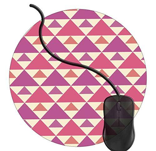 Gaming Mauspad Runde Abstraktes Retro- geometrisches Dreieck spezielle Oberfläche verbessert Geschwindigkeit und Präzision rutschfest Mouse Pad 2K248