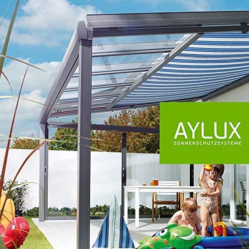 Terrassenüberdachung Terassendach Komplettanlage Überdachung Veranda Pergola aus Aluminium [ ALU ]...