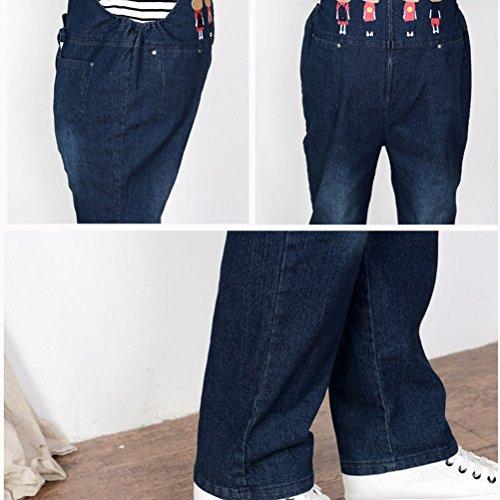 Laixing Hot Maternity Jumpsuit Loose Rompers Baggy Pants Pregnancy Bib Jeans M8817 blue