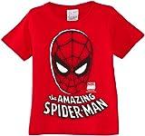 Logoshirt Jungen T-Shirt Kids Shirt Marvel-The Amazing Spider-Man Mask, Gr. 110 (Herstellergröße:104/116), Rot