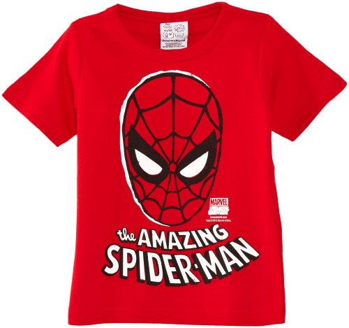 Logoshirt Jungen T-Shirt Kids Marvel-The Amazing Spider-Man Mask, Rot 110 ()