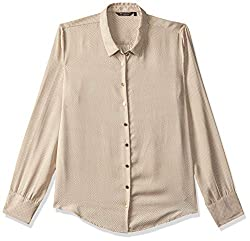 Van Heusen Womens Button Down Shirt (VWSF517D06180_Beige_L)