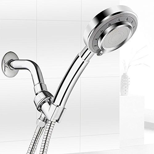 Handbrause, Bukm Duschkopf 3 Modi Duschbrause 40% Wassersparende 300% Hoher Druck Hand Dusche Kopf
