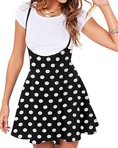 YOINS Rock - Minifalda para Mujer, diseño de monopatín Punkt-Schwarz 38-40