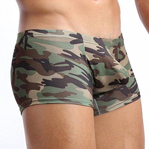 Boxer Briefs Herren Ronamick Military Herren Camouflage Boxershorts Badehose Unterwäsche Unterhose Push Up Knickers Shorts Slips Underwear Badehose (XXL, Tarnung) -