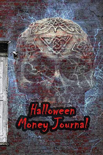 Halloween Money Journal: 52 Weeks Money Planner Notebook To Debt Out or Passive Income | Scary Skull House Print