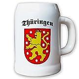 Krug / Bierkrug 0,5l - Thürigen Bundesland Stadt Erfurt Geschichte Historie historisch BRD NRW Wappen Abzeichen #9405