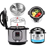 Accessori per pentola a pressione Instant Pot, cestello per cottura a vapore, supporto e rastrelliera per cottura a vapore di uova e verdure, in acciaio inox, per Instant Pot da 5,7 l e 7,6 l