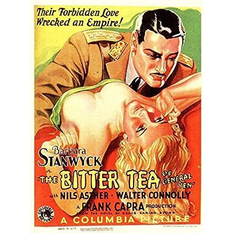 El té amargo del General Yenes Póster de película 11 x 17 - alemán 28 cm x 44 cm en Barbara Stanwyck Nils campo no válido Gavin Gordon Walter Connolly Lucien Littlefield Toschia