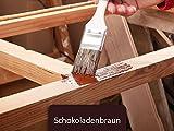 Holzfarbe seidenmatt Holzlack BEKATEQ BE-420 Holzschutzfarbe auf Wasserbasis Holzmöbel streichen (1L, Braun)