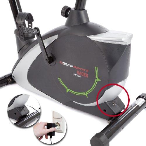 Ultrasport Heimtrainer Racer 700M/800A mit Handpuls-Sensoren inkl. Trinkflasche - 4