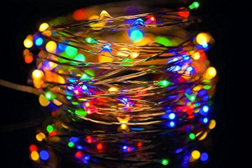 Clode® 10.5M 33ft connecteur USB Led 100 cordes Guirlande lumineuse Garland de fil de cuivre pour Noël, mariage etc (Multicolor)