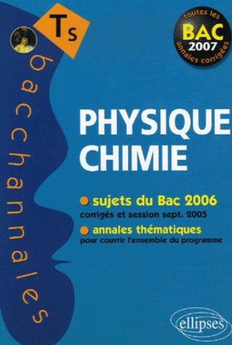 Physique-Chimie Tle S : Enseignement obligatoire et de spécialité