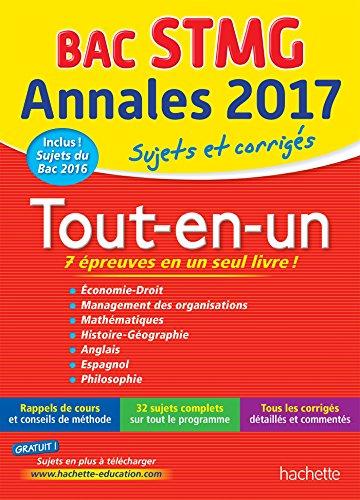 Annales Bac - Sujets Et Corriges Le Tout-En-Un Term STMG par Alain Prost