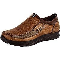 Nahua Hombre Zapatos Mocasines Cuero Casual Slip On Entrenadores Comodidad Respirable Clásico para Caminar Ocio Negocio Zapatos Plano