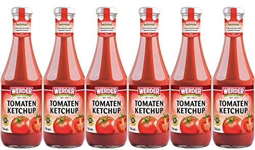 Preisvergleich Produktbild WERDER 6 x Tomaten Ketchup 750 ml