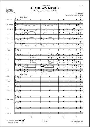 PARTITION CLASSIQUE - Go Down Moses - G. ARCENS -